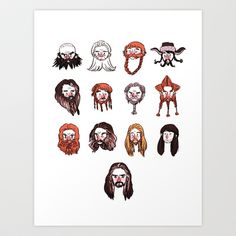 Just Dwarves Art Print by ironpe - $15.00