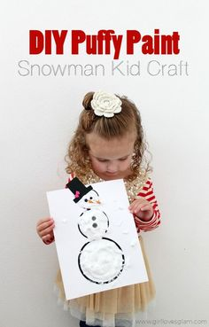DIY Puffy Paint Snow