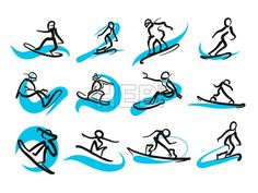 Set of sketched freestyle snowboarding people, hand-drawn vector illustration by two different pens. Black people in foreground, blue moving lines in ... ... #sketch #snowboard #set #doodle #wall-art #drawing #sports #download #stockimage #vector