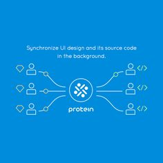 """""""Protein"""" updates the source code with latest changes in design tools made on different platforms and vice versa. It therefore guarantees collaborative work on UI, increasing the team's productivity drastically."""