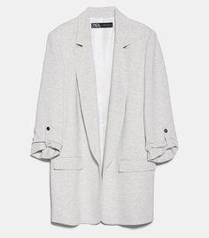 Zara Blazer with Rolled Up Sleeves Wardrobe Basics, Wardrobe Staples, How To Wear Blazers, Zara Home Stores, Zara Outfit, Zara Blazer, Oversized Blazer, Zara Fashion, Drop Zone