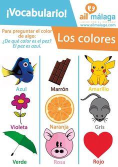 Learn the #colours in #Spanish! #LearnSpanish #SpanishSchool #SpanishVocab