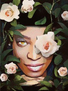 Lady Rose cross stitch pdf pattern download Cross Stitch Rose, Cross Stitch Patterns, Embroidery, Pdf, Painting, Needlework, Needlepoint, Painting Art, Paintings