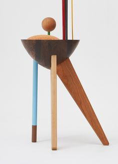 The influence of modern abstract artist Wassily Kandinsky is undeniably widespread: his primary colors and bold use of geometry shaping generations of creative work. For Korean designer WoongKi Ryu, these elements have been drawn together as inspiration in the 'Abstraction Chair'. Ryu's design features a round wooden seat and colorful shapes that playfully arc from the basic structure of the chair. Drawing formally from the expressionist works of Kandinsky — specifically Composition VIII —…