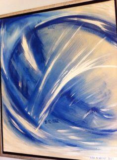 Maleri 1 af 3 til sølv brudepar.