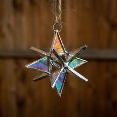 3 inch Stained Glass Moravian Suncatcher star Aura quartz | Etsy Celestial Wedding, Wedding Mood Board, Glass Christmas Tree Ornaments, Suncatchers, Rainbow Colors, A Table, Iridescent, Stained Glass, Quartz
