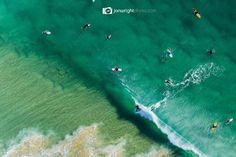 Barrel from above - Currumbin - QLD, Australia