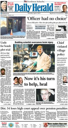 Daily Herald front page, April 4, 2013