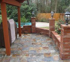Beautiful Outdoor Tile Patio Slate