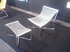 Navi Hammock Chair and Footstool designed by Paula Rodriguez for Detalia Aurora, Inc.