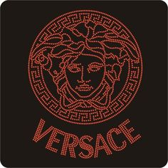 x1 RED  VERSACE inspired Rhinestone Iron on 22cm x17cm | fantasyforU - Patterns on ArtFire