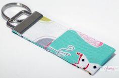 Key Fob Chapstick Holder  Fashion Plate Fabrics by TheSewingFools, $8.00