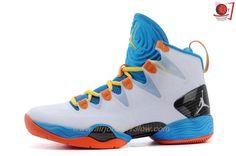 2015 White/Blue/Orange Air Jordan XX8 SE Mens