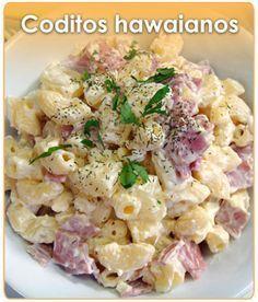 CODITOS HAWAIANOS I Love Food, Good Food, Yummy Food, Healthy Recipes, Mexican Food Recipes, Pasta Recipes, Cooking Recipes, Deli Food, Food Humor