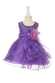 Iyla - Purple Stone Beaded Pageant Baby DressCC1101 - Stone Beaded Baby Pageant Dress Crystal Beaded Baby Dress Fully lined Crystal Organza and Satin Baby dress is cut to fit Newborn to 24 month Toddler Matching Older sibling Dress Style Also Available Available in 12 Bright Pageant Colors