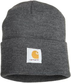 db5a1457 Carhartt Men's Acrylic Watch Hat,Coal Heather,One Size Acrylic acrylic,  *stretchable rib-knit fabric Hand wash only Imported