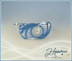 Ocean waves , micro macrame bracelet