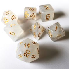 1Set Polyhedral Dice Dice White Polyhedral Acrylic Special Design Stylish