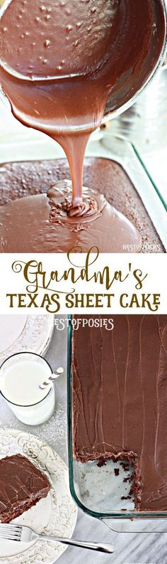 Texas Sheet Cake - the best recipe by far! Oreo Dessert, Coconut Dessert, 13 Desserts, Dessert Recipes, Frosting Recipes, Grandma's Recipes, Recipies, Icing Recipe, Cooking Recipes