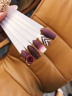 Spectacular Nail Design Ideas To Try Asap - Nail designs or nail art is a very simple concept - designs or art that is used to decorate the finger or toe nails. They are used predominately to en. Aycrlic Nails, Glam Nails, Fancy Nails, Matte Nails, Love Nails, Beauty Nails, Hair And Nails, Manicure, Bling Nails