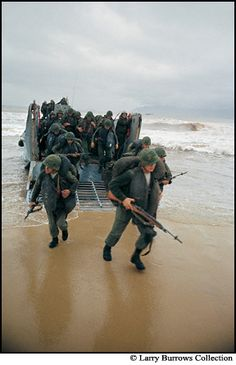 Into the Nam- March 8, 1965, Marines storm ashore at Da Nang, first US combat troops to be committed to Vietnam. Thank you for your service!