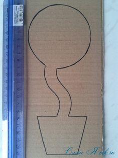 топиарий магнит на холодильник из картона своими руками и сизаля 2