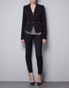 BLAZER WITH ZIPS - Jackets - TRF - ZARA