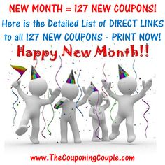 ***NEW MONTH = 127 NEW PRINTABLE COUPONS*** Here is the complete detailed list of all 127 NEW PRINTABLE Coupons that were just released! Click the link below to get the FULL DETAILED LIST of DIRECT LINKS to all 127 NEW Coupons ► http://www.thecouponingcouple.com/127-new-printable-coupons-to-start-january/  #Coupons #Couponing #CouponCommunity  Visit us at http://www.thecouponingcouple.com for more great posts!