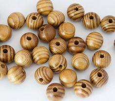 Сосна Природные круглый лес шариков прокладки, пригодный для жизни браслет ожерелье DIY изготовления ювелирных…