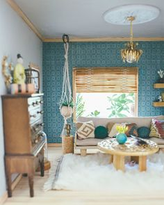 Thoughts from Alice: Dollhouse Living Room Reveal