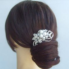 15.95 Hey, I found this really awesome Etsy listing at https://www.etsy.com/listing/167927648/hair-ornaments-pearl-bridal-rhinestone