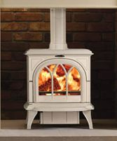 wood-burning stoves in white Wood Burner Fireplace, Fireplace Ideas, Wood Fuel, Multi Fuel Stove, Fire Surround, Fireplace Accessories, Electric Fireplace