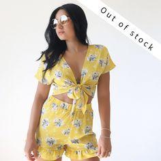 Σετ Botanical τοπ+σορτσάκια κίτρινο -Two piece BLUSHGREECE Co Ord, Wrap Dress, Dresses, Fashion, Vestidos, Moda, Fashion Styles, Dress, Fashion Illustrations