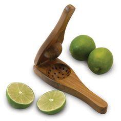 Eco-teak citrus squeezer by Enrico Products