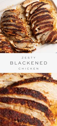 Mar 2020 - Blackened chicken is the perfect way to add a little spice to your dinner life! Enjoy this blackened chicken recipe over pasta, or alongside veggies or salads for a flavorful, healthy protein your family will love! Easy Dinner Recipes, Pasta Recipes, Chicken Recipes, Easy Meals, Cooking Recipes, Healthy Recipes, Skillet Recipes, Cajun Recipes, Chicken Flavors