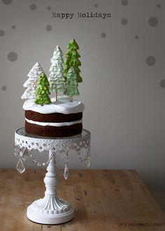 Holiday Winter Wonderland Cake - Style Sweet CA