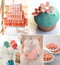 turquoise and coral wedding theme.001