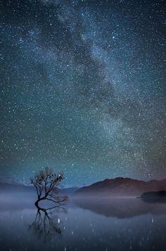 Lake Wanaka in the Southern Alps of New Zealand, by Simon Larkin...