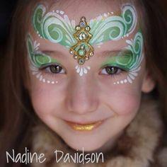Nadine Davidson | Princess Face Paint | bling cluster | Gem cluster face paint | face painting