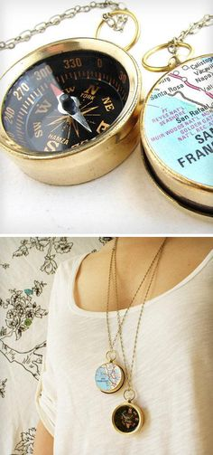 Compass necklace - I have one already from Forever21-- these look to be of way better quality!