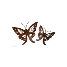 NOVICA Steel Monarch Wall Sculptures (Pair) (180 BRL) ❤ liked on Polyvore featuring home, home decor, wall art, brown, wall accents, wall decor, butterfly sculpture, novica, steel sculpture and tree home decor