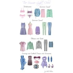 """True Summer Light colors"" by sabira-amira on Polyvore"