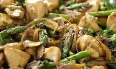 Dukan Diet Chicken and Mushrooms with Asparagus – Recipe - Relish, I will use tofu instead of chicken