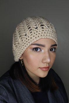 Crochet Turban, Crochet Hats, Winter Knit Hats, Crochet Projects, Knitted Hats, Crochet Patterns, Beanie, Knitting, Lana