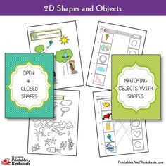 2D Shapes Worksheets - Printables & Worksheets 1st Grade Math Worksheets, Shapes Worksheets, Printable Worksheets, Printables, Geometric Shapes Drawing, 2d And 3d Shapes, First Grade Projects, Objects, Teaching