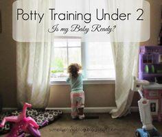 Potty Training Under 2 | Is My Baby Ready? / Simply Olivia