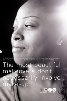 empowering women - simple, effective copy. The most beautiful makeovers don't necessarily involve make up.