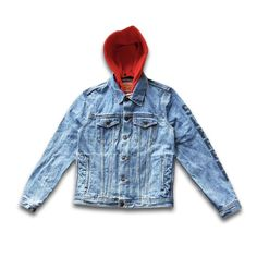 4638aa8d0d6f Another amazing collaboration. Supreme x Levis Denim Hooded Jacket! Two  Color Options.