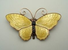 This Beautiful Vintage Signed David Andersen Butterfly Brooch features a finely textured design, which is first created in the underlying silver and  $155