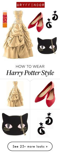 """""""Harry Potter - Gryffindor Ball Outfit"""" by aph-lalonde on Polyvore featuring Maybelline, Wet Seal and Skinnydip"""